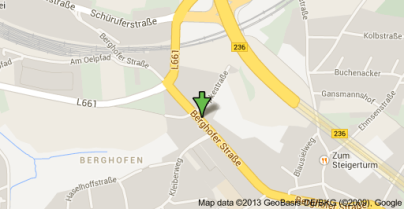 Berghofer Straße 76 - Karte
